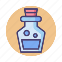 chemical, flask, mana, mana potion, potion icon