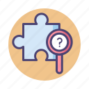 puzzle, puzzle quest, quest, solution icon