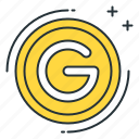 coin, gold icon