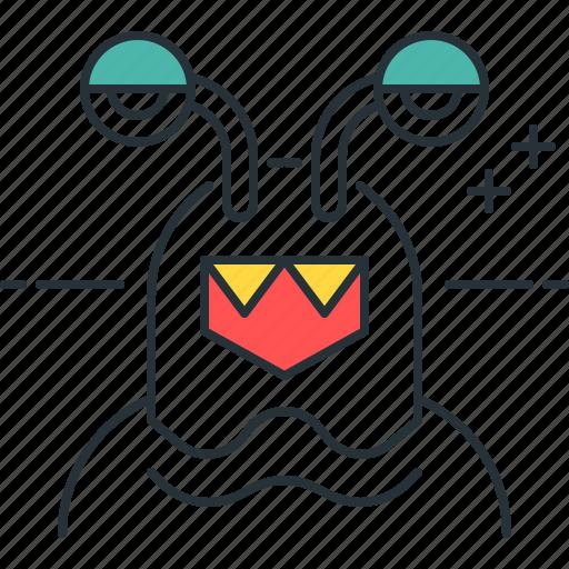 alien, character, monster icon