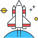 mission, rocket, scifi, space, space mission, space rocket, startup icon