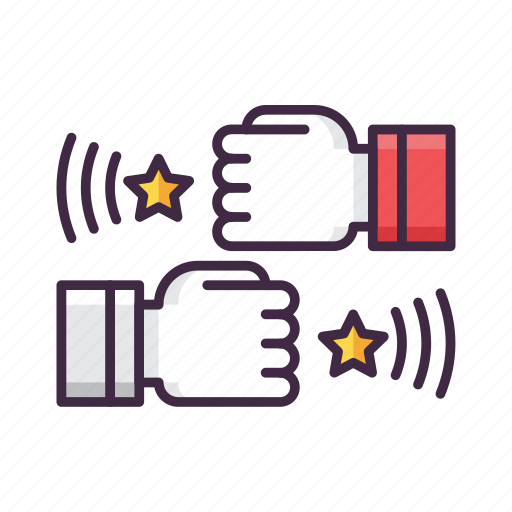 action, bump, fighting, fist, game icon