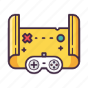 adventure, controller, game, hunt, map, treasure icon
