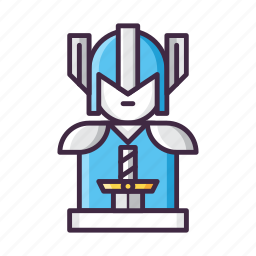 character, knight, swordsman, warrior icon