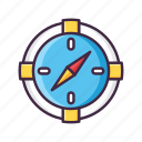 compass, direction, gps, location, navigation, safari icon