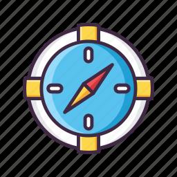 compass, direction, gps, location, navigation, safari icon