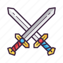 battle, blade, crossing, medieval, swords, war, weapon icon