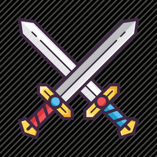 battle, blade, crossing, medieval, swords, war, weapon icon