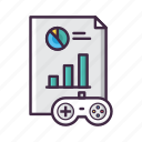 analysis, analytics, chart, game, graph, pie, report icon