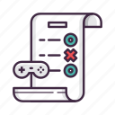 controller, evaluation, game, results icon