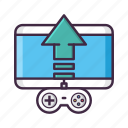 controller, game, publishing, uplink, upload icon