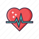 heart, heartbeat, love, rate icon