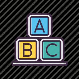 abc, alphabet, block, game, kids icon