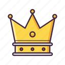 crown, king, prince, royal, vip icon