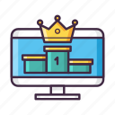 champ, champion, king, leader, leaderboard, level, ranking icon