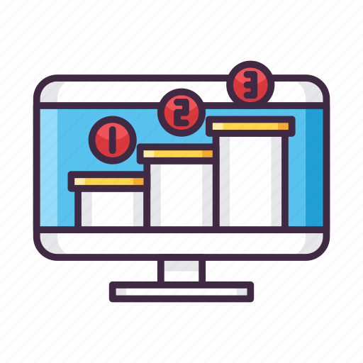chart, leaderboard, level, ranking icon