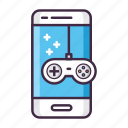 game, mobile, app, device, gamming, joystick, smartphone icon