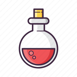 bottle, gaming, glass, liquid, medicine, potion, red icon