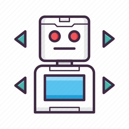 console, controller, game, gaming, play, robot, simulation icon