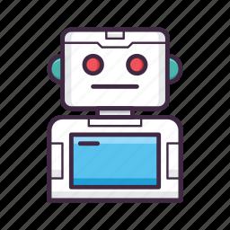 controller, game, gaming, media, play, robot, sprite icon