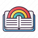 fairy, fantasy, legend, magic, rainbow, story, tale icon