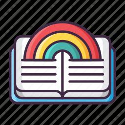 fairy, fantasy, legend, magic, rainbow, story, tale icon