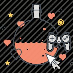 game, test, tube icon