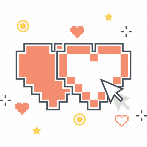 game, heart, life, loose, sprite icon