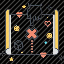 design, level, map, treasure icon