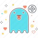 game, ghost, life, monster, sprite icon