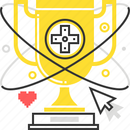 cup, cursor, game, trophy, video game, winner icon