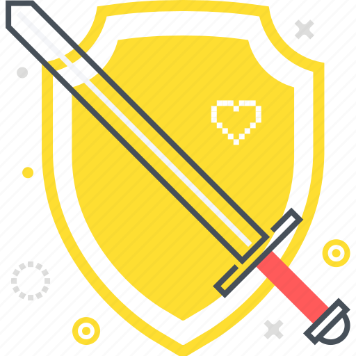 game, shield, sword, versus, video game, war icon