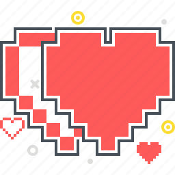 game, heart, life, pixel art, video game icon