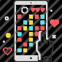 mobile, hand, phone, game, finger, smart