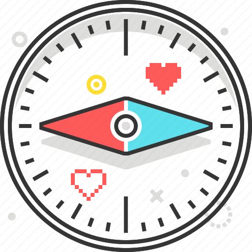 compass, game, map, mission, outdoor, way icon