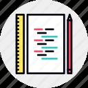 code, coding, file, programming, script icon