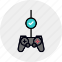 check, controller, game, gamepad, gaming, test, testing icon