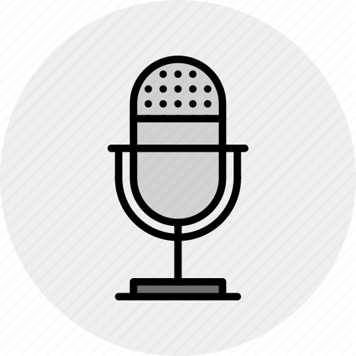 live, mic, microphone, record, sound, studio icon