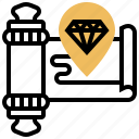 map, navigation, quest, route, tracing icon