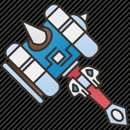 Ax, battle, fantasy, hammer, warrior icon - Download on Iconfinder