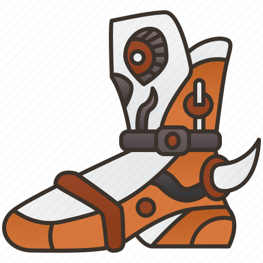 Armor, boot, fantasy, footwear, shoes icon - Download on Iconfinder