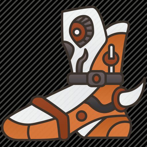 armor, boot, fantasy, footwear, shoes icon