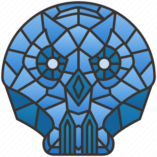 Crystal, demon, diamond, gemstone, skull icon - Download on Iconfinder