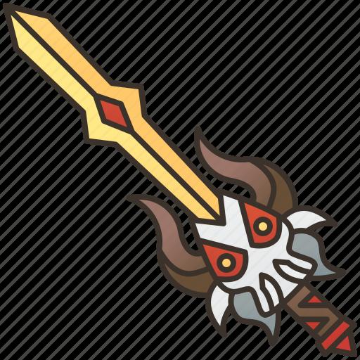 armor, attack, blade, sword, weapon icon
