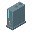computer, pc, processor, server tower, system unit icon