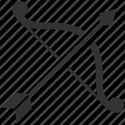 archer, arrow, bow, hunter, shot, weapon icon