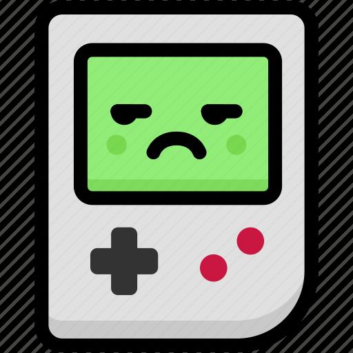 annoying, emoji, emotion, expression, face, feeling, gameboy icon