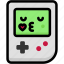 emoji, emotion, expression, face, feeling, gameboy, kiss icon