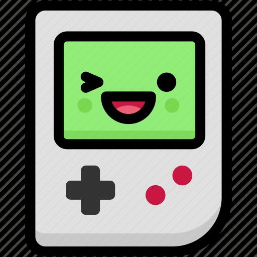 emoji, emotion, expression, face, feeling, gameboy, laughing icon