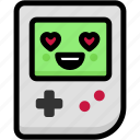 emoji, emotion, expression, face, feeling, gameboy, love